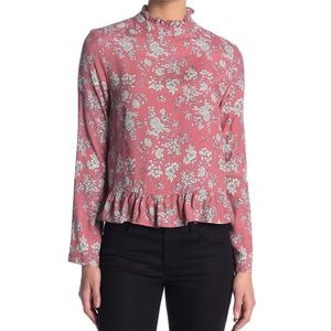 Nordstrom Tops - Nordstrom CODEXMODE Ruffle Trim High Neck Blouse S